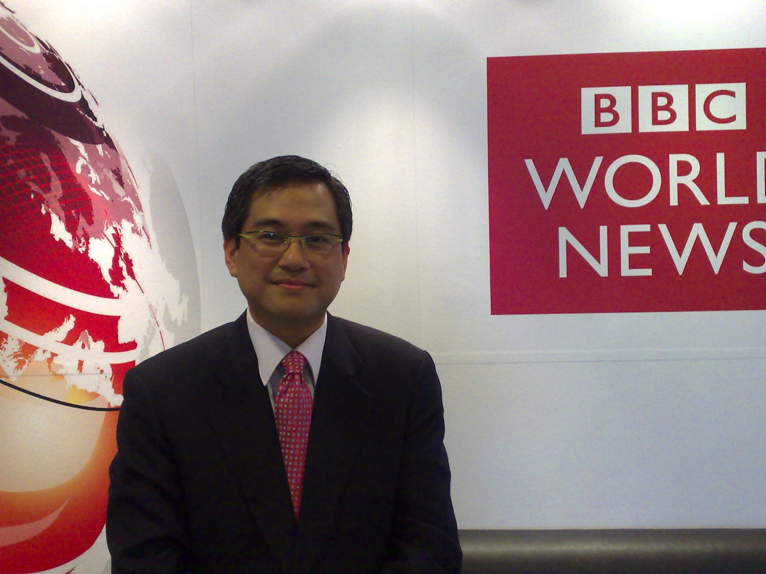 Photo of Rico Hizon at the BBC office