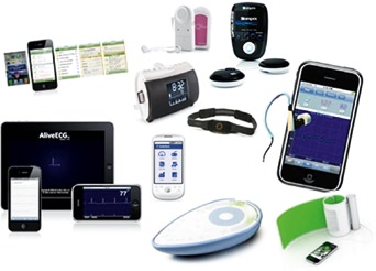 Photo of various digital mobile devices