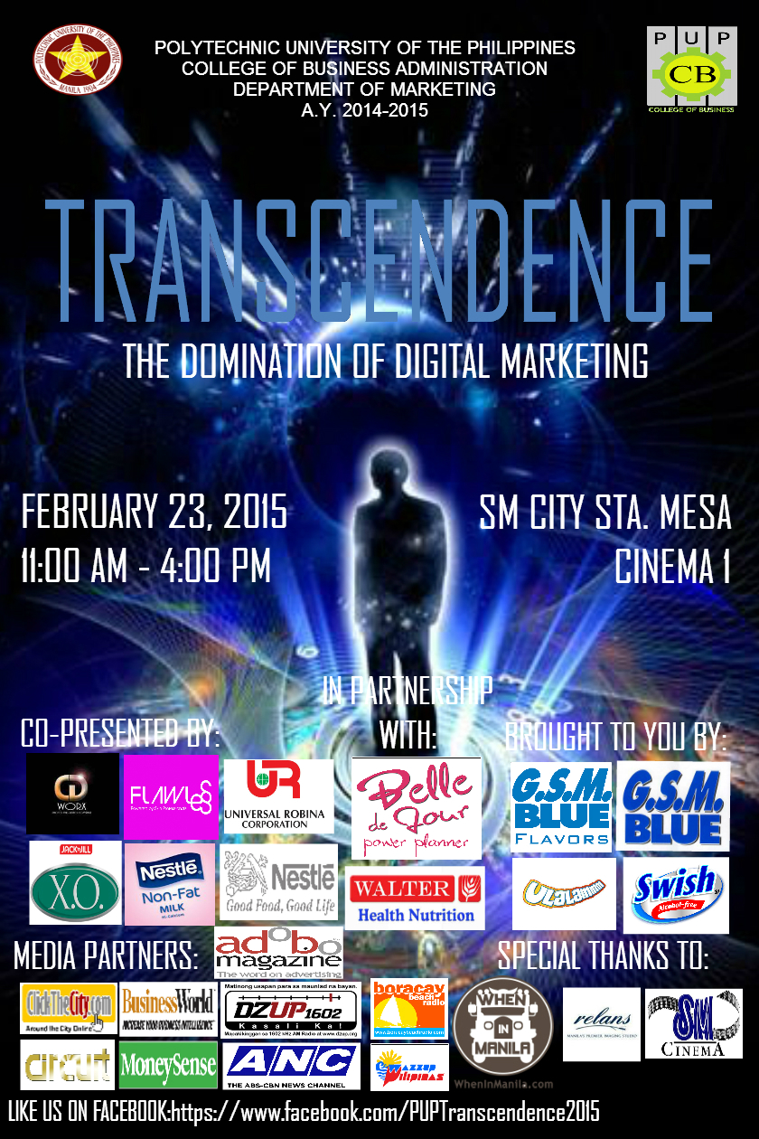 Transcendence: The Domination of Digital Marketing Poster