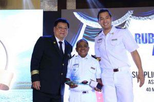 Mr. William Tiu Lim, Mr. SimplicioGandacila(Assistant Engineer-Ruby Loyalty Awardee), Mr. Malcolm Tiu Lim