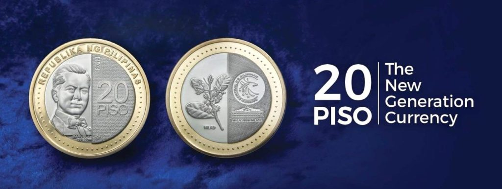 New Generation Currency 20-piso coins