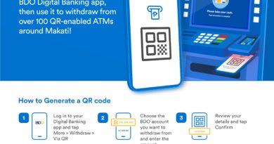 BDO offers QR Code withdrawals from select BDO ATMs -HIRES
